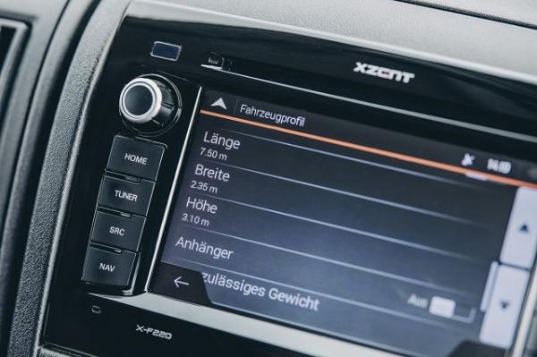 Navigationsgerät XZENT (mit Navikarte)