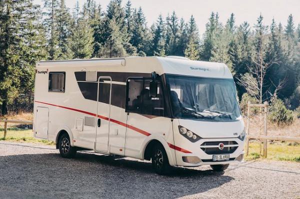 Sonnenschutzmatte für Integrierte Reisemobile